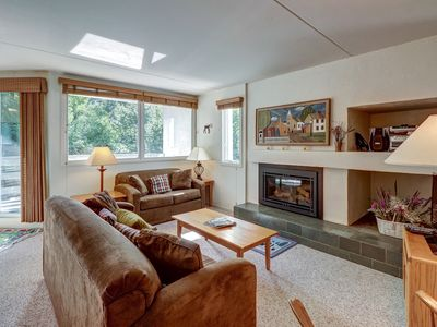 Photo for NEW LISTING! Cozy condo with shared hot tub, pool, sauna & more - close to ski!