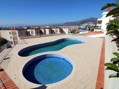 Photo for Apartment sea view pool canyelles