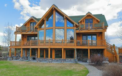 Photo for NEW LISTING - Lakefront cabin -  4 bedroom/sleeps 14 - just 16 miles from YNP
