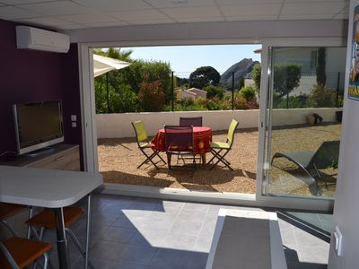 Photo for T2 new with garden in quiet residence at the foot of the Calanques park