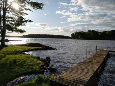 Photo for Cozy Rice Lake Waterfront Cottage