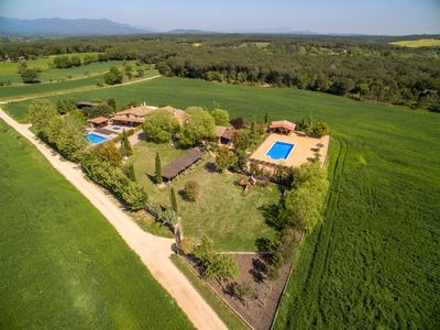 Photo for Exclusive 12 Bedrooms Villa, 2 Large Pools - BBQ - 15min Beaches, near Barcelona