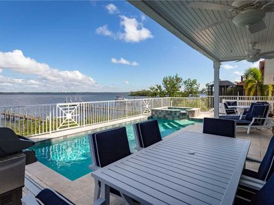 Photo for Blue Heaven, 3 Bedrooms, Bay Front, Private Pool, Pet Friendly, Sleeps 10