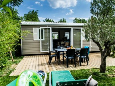 Photo for Camping La Sirène ***** - Mobil Home Sirène3 4 Rooms 6 people including 4 Adults maximum, baby included