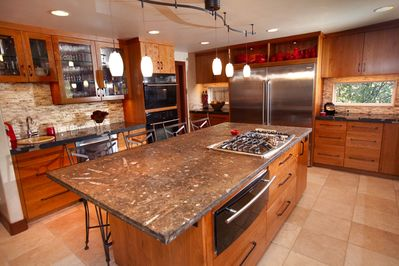 A kitchen big enough for your whole group to share
