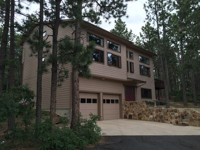 Photo for Rustic Mountain Vacation Home in the Trees! 8 Miles from Air Force Academy!