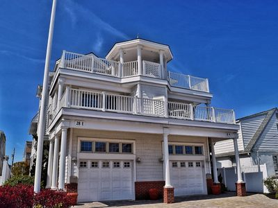 Photo for Beach Block at its finest with Oceanviews from decks. Fully equipped with wireless internet 4 decks and only a few homes from the beach.