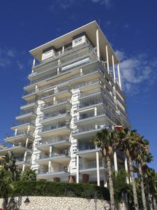 The Ancora apartment building is modern and stylish