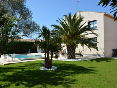 Photo for Villa Royale Vias of 4 bedrooms, swimming pool 11X5m 1 'walk downtown