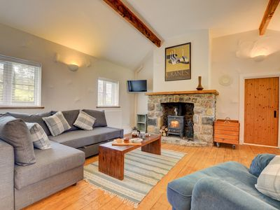 Photo for The Property: a detached stone cottage which has been beautifully restored and has a wood burning st