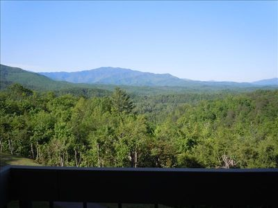 Incredible view of Mt. Leconte in Smoky Mountain National Park from our balcony.
