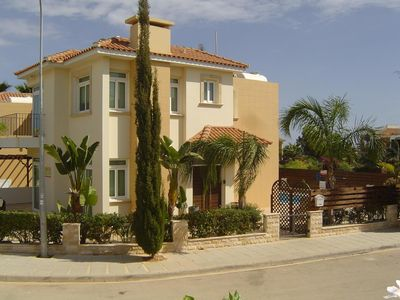 Photo for Superb 5* Sea View Luxury Villa,Private Pool in Central Protaras with FREE WIFI