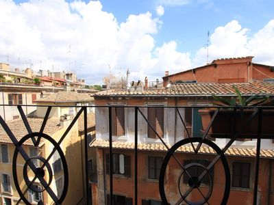 Photo for Monte Vecchio, strategic location few steps from Piazza Navona,2 balconies with view,hard wood floor