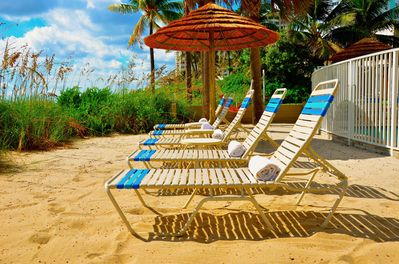 Seaward's Spectacular Private Beach Offers Chaise Lounge Chairs + Views...