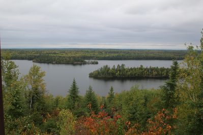 View looking northwest across Moose Lake and the BWCAW