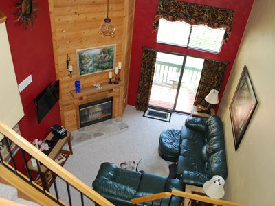 Photo for Welcome to 7 Springs!  Beautifully decorated Ski-in/Walk-out Townhouse Sleeps 8