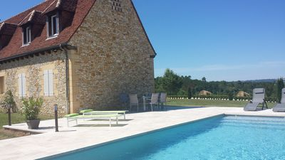 Photo for Villa with private pool, stunning views, luxury and comfort, near Sarlat