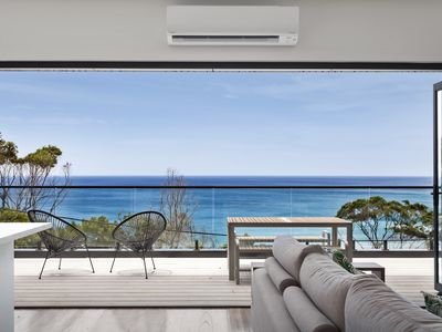 Amazing ocean views from lounge room or the large deck area.