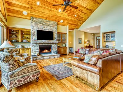 Photo for NEW LISTING! Luxury home on Sugar Mountain w/hot tub, game room, & large deck