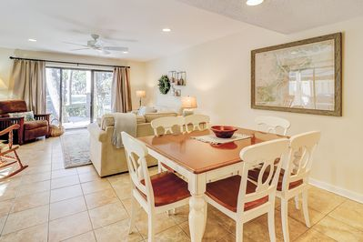 Main Living Space - Great for entertaining, the kitchen, dining area, and living room are all open to each other.