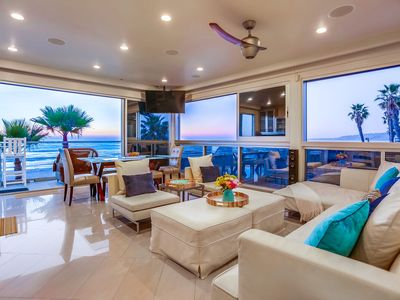 Photo for Modern Oceanfront 5BR Beach Condo, Panoramic Ocean Views w/ BBQ