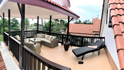 Photo for Amazing 3 bedroom sea view villa with plunge pool & roof terrace.
