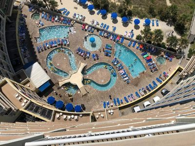 Photo for Luxury oceanfront condo w/ Breathtaking views. Lazy River, pools, hot tubs.