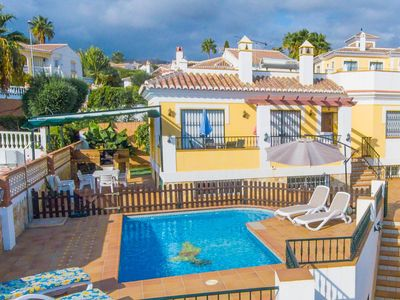 Photo for Villa Colinas: Private Pool, Walk to Beach, Sea Views, A/C, WiFi