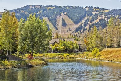Views of #1 rated Deer Valley Ski Resort from adjacent Queen Esther pond.