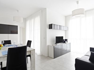 Photo for Claudio apartment in Ravenna with WiFi, integrated air conditioning, private parking, private roof …