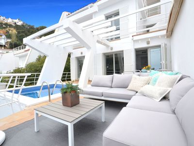 Photo for Fantastic bright and airy semi-detached house with great sea views, completely renovated t