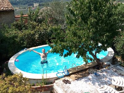 Photo for Little villa with garden and pool, just outside Rome on the Sabina hills