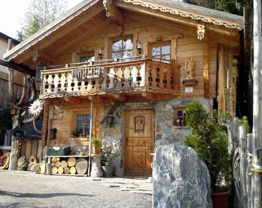 Photo for Magnificent chalet, built with traditional materials in Salzburg style and on the outskirts of St. V