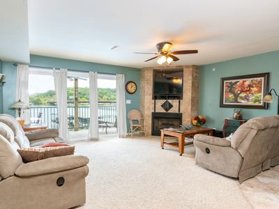 Photo for Lakefront 3BR Condo Overlooking Pool + Boat Slip