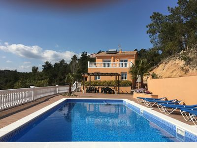 Photo for Marimuntanya - Large spacious villa for 20 pers. Fenced Pool. Sea Vieuws Parking