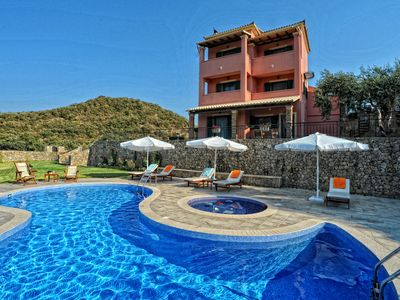 Photo for Villa Mare e Monti with private pool, sea and mountain views