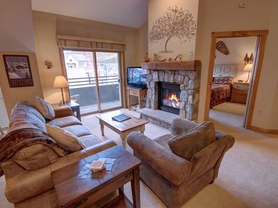 Photo for Large 1 bed condo in the Village! 2 Hot Tubs, Pool Table, Walk to Summer Festivals & activities