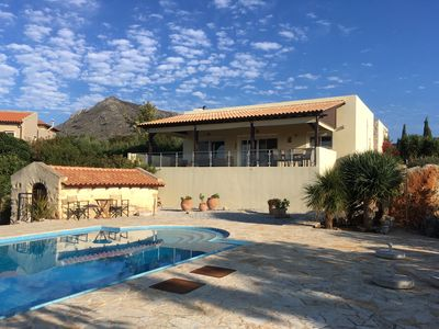 Photo for 3 Bedroom luxury villa, with 1 bedroom guest house, private pool and fab views.