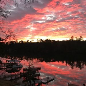 Beautiful sunrise over Lake Hickory! View from deck of property