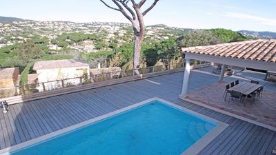 Photo for Villa T5 - 8 people - Private pool - Jacuzzi - Air conditioning - WiFi - Sainte Maxime