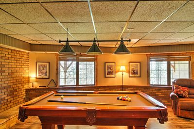 You'll find dozens of amenities, including a pool table, Foosball, & dart board