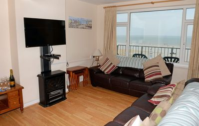 Photo for Sea View Apartment, Beach Front Location, WiFi and Parking