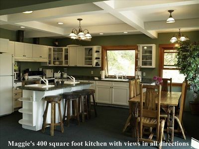 Maggie's 400 square foot kitchen with views in all directions