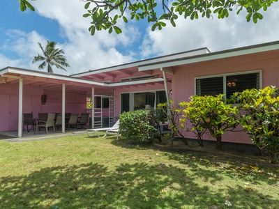 """Photo for Kailua Beach """"The Pink House""""  100 Yards from Ocean"""