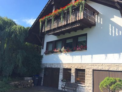 Photo for Large apartment in the Thuringian Forest - quiet with a fantastic view