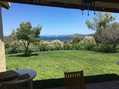 Photo for Sardinian villa with a terrific top sea view on the Caprera island