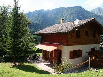 Photo for Delightful Chalet, village location, garden, parking, views and WiFi