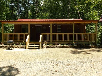 Photo for Relax & Enjoy a Summer Getaway in this Cozy Cabin on 40 Acres.