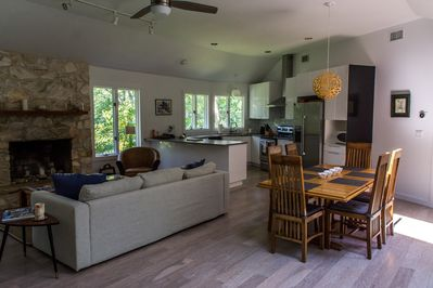 Living room and kitchen. Open plan. Renovated 2018
