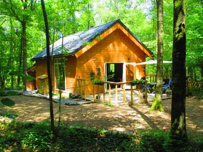 Photo for Modernly equiped chalet with sauna, situated in a quiet forest